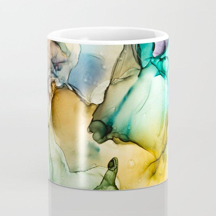 Caribbean Beach- Alcohol Ink Abstract Painting Coffee Mug