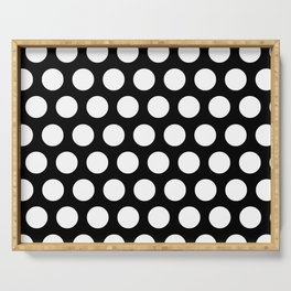 Black with White Polka Dots Serving Tray