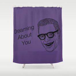 Dreaming About You Jeff Goldblum Purple Shower Curtain