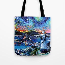 van Gogh Never Saw Christ The Redeemer Tote Bag