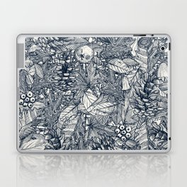 forest floor indigo ivory Laptop & iPad Skin