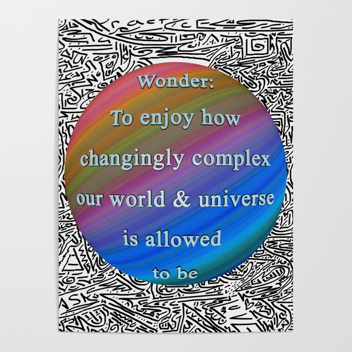 Wonder: Complexity Poster