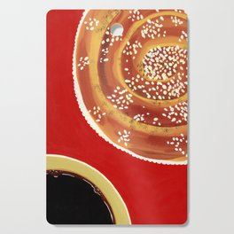 Coffee & cinnamon bun Cutting Board