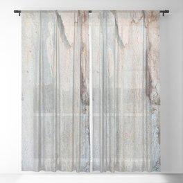 Eucalyptus tree bark and wood Sheer Curtain