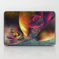 planets iPad Cases featuring Flower Planets by Klara Acel