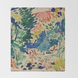 Landscape at Collioure - Henri Matisse - Exhibition Poster Throw Blanket