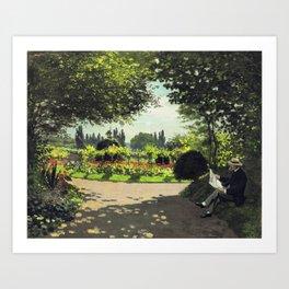 Reading Garden Art Print