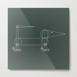 Anatomy of a Dachshund Metal Print
