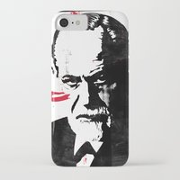 freud iPhone & iPod Cases featuring Freud by Taylor Callery Illustration