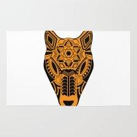jaguar Area & Throw Rugs featuring jaguar by danta