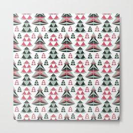Christmas trees. Metal Print