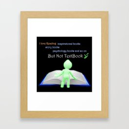 Cforsmile-Difference way of thinking Framed Art Print