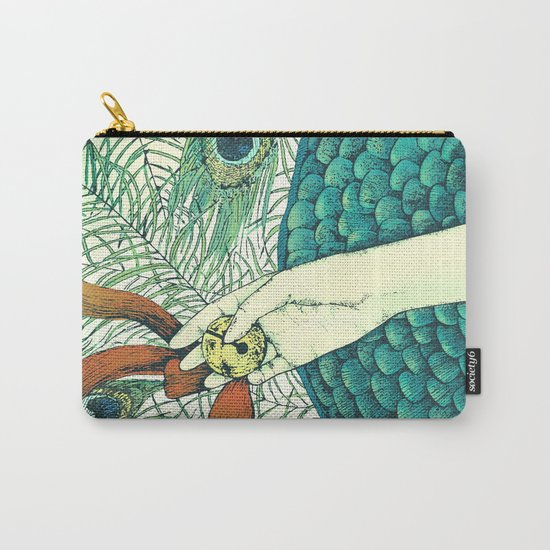 Golden bell and peacock feathers Carry-All Pouch
