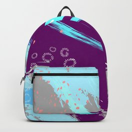 Violet blue splash Backpack