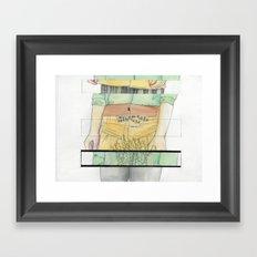 2 p.m. Framed Art Print