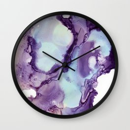 Abstract in purple and light blue Wall Clock