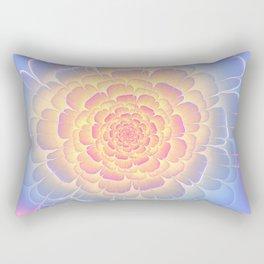 Romantic violet and yellow flower Rectangular Pillow