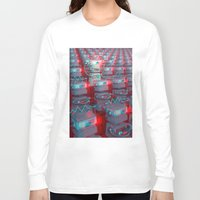 cinema Long Sleeve T-shirts featuring Robot Cinema by Chayground
