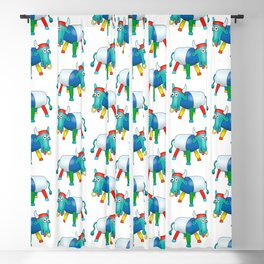 Steel Drum Colourful cow. Blackout Curtain