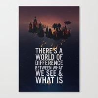 bioshock infinite Canvas Prints featuring Bioshock Infinite Quote by Simon Ward