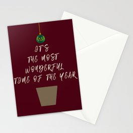 Christmas - The Best Time Of The Year Stationery Cards