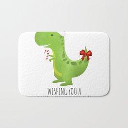 Wishing You A Dino-Mite Christmas Bath Mat