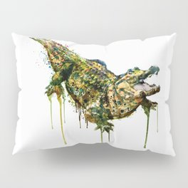 Alligator Watercolor Painting Pillow Sham