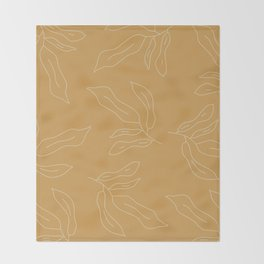 leave me alone line art Throw Blanket