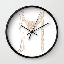 Fancy M Wall Clock