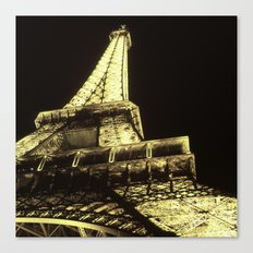 eiffel@night Canvas Print