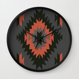 Native American Indian Tribal Geometric Pattern Wall Clock