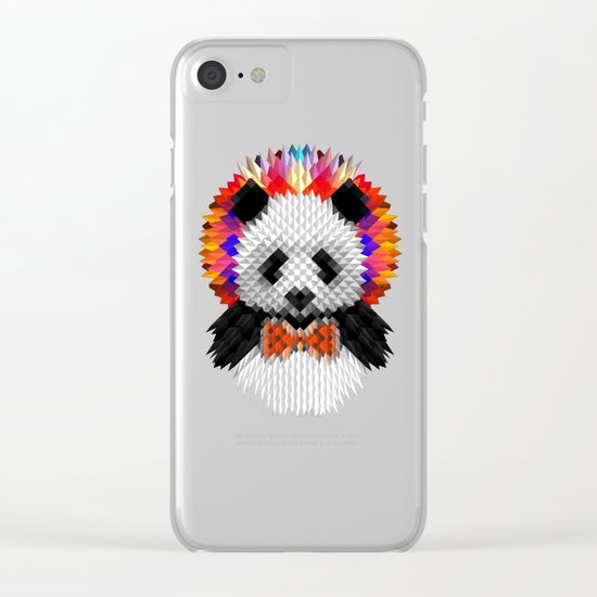 Geo Panda Clear iPhone Case