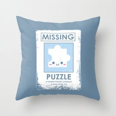 The Missing Puzzle Throw Pillow