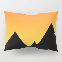 Mountains at Sunset (Red & Yellow) Pillow Sham
