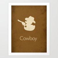 cowboy Art Prints featuring Cowboy by S. Vaeth
