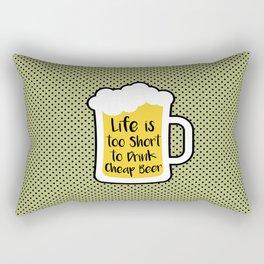 Cheap Beer Rectangular Pillow