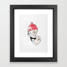Bill Murray featured as Steve Zissou from The Life Aquatic with Steve Zissou by Wes Anderson Framed Art Print
