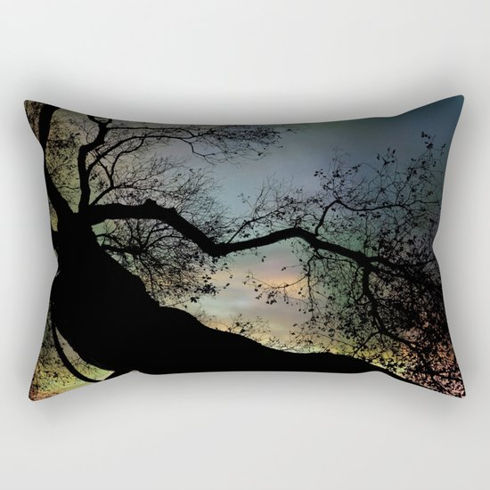 Night Fall by The Tree Rectangular Pillow