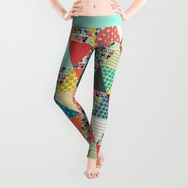 llama geo triangles Leggings