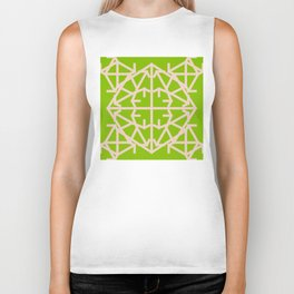 Diamond Bug Pale Dogwood - Greenery Biker Tank