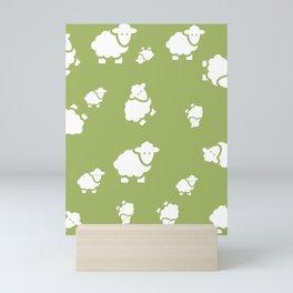 background with sheep Mini Art Print