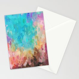 Patina Series Colorful Abstract 4 Stationery Cards