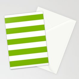 Microsoft green - solid color - white stripes pattern Stationery Cards