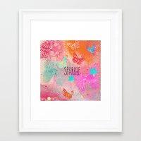 sparkle Framed Art Prints featuring Sparkle by SannArt