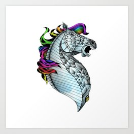 Ornate Color Horse Art Print