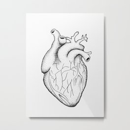 dotwork heart Metal Print