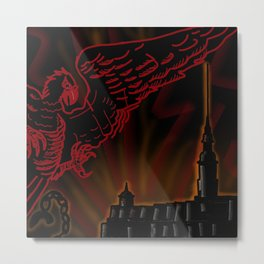 red Raven and fortress Metal Print