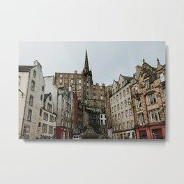 Citycentre of Edinburgh photo print | Travel photography | Edinburgh, Scotland Metal Print