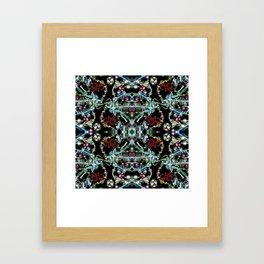 Bling 2, Jewelry Scanography Kaleidoscope Framed Art Print