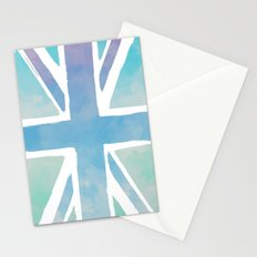 Watercolor Union Jack Stationery Cards